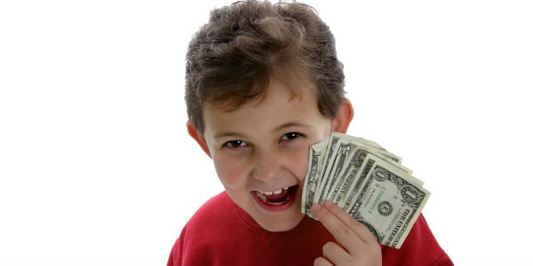 Image result for kids with money