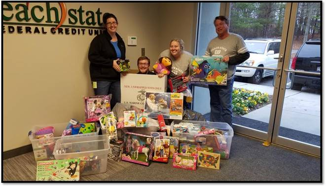 Peach State Federal Credit Union Donates Toys For Tots Cuinsight