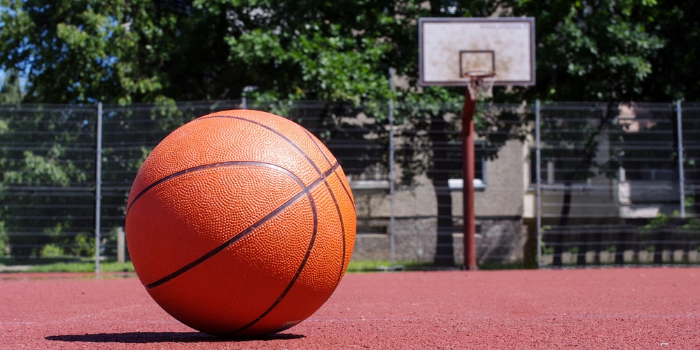 Image result for basketball court with ball